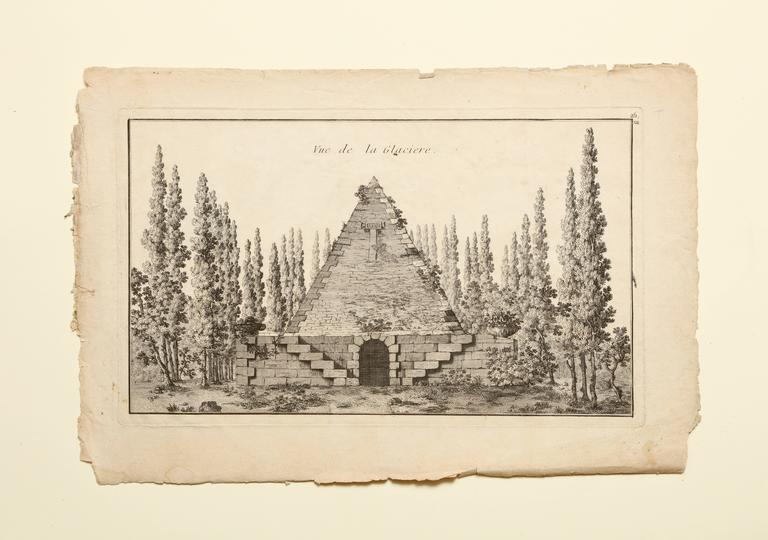 Georges-Louis Le Rouge Landscape Print - La Glaciere Plate from Jardins Anglo-Chinois