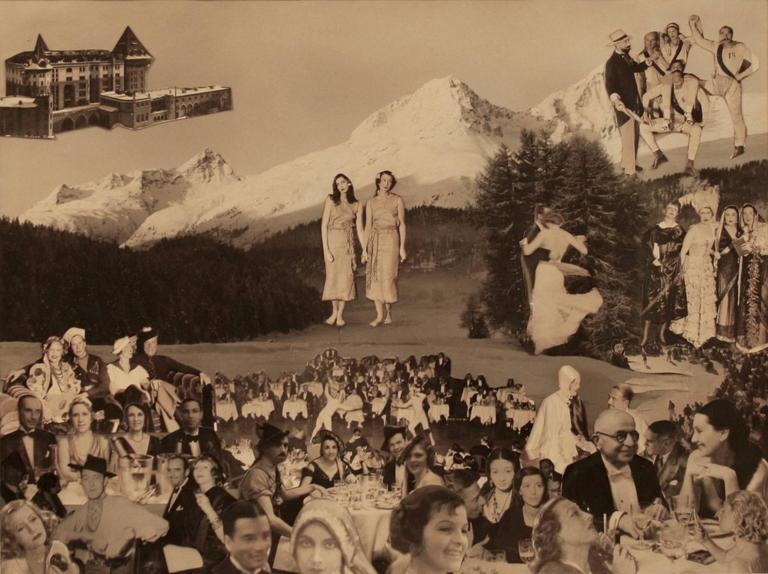 Etienne de Beaumont Black and White Photograph - Fete in the Alps Collage