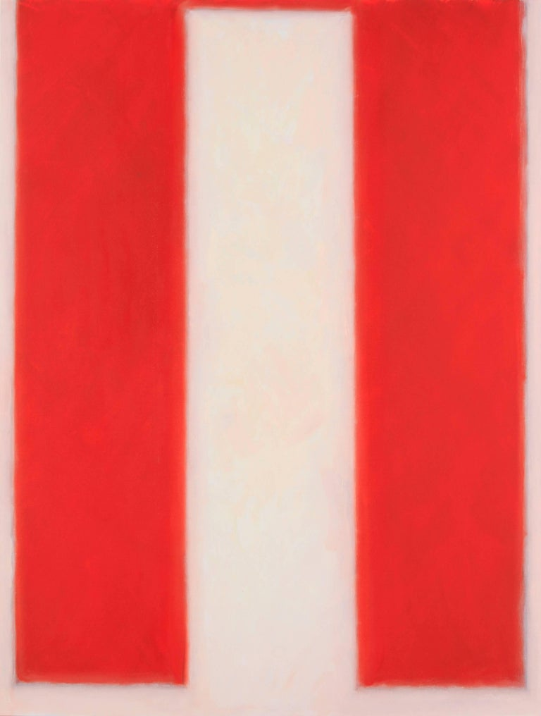 Peter Lodato Abstract Painting - Vermillion #2