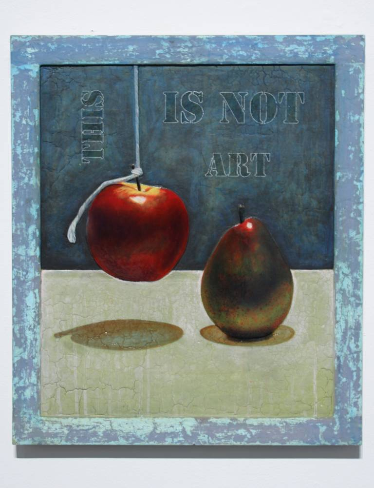 This Is Not Art #5 - Painting by Mikel Alatza