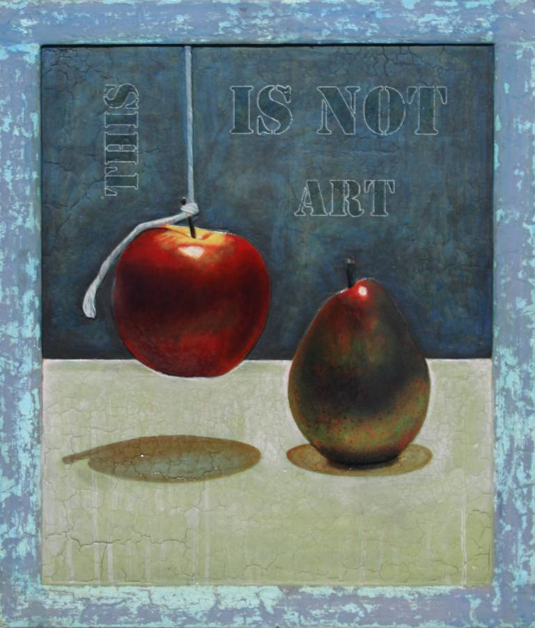 Mikel Alatza Still-Life Painting - This Is Not Art #5