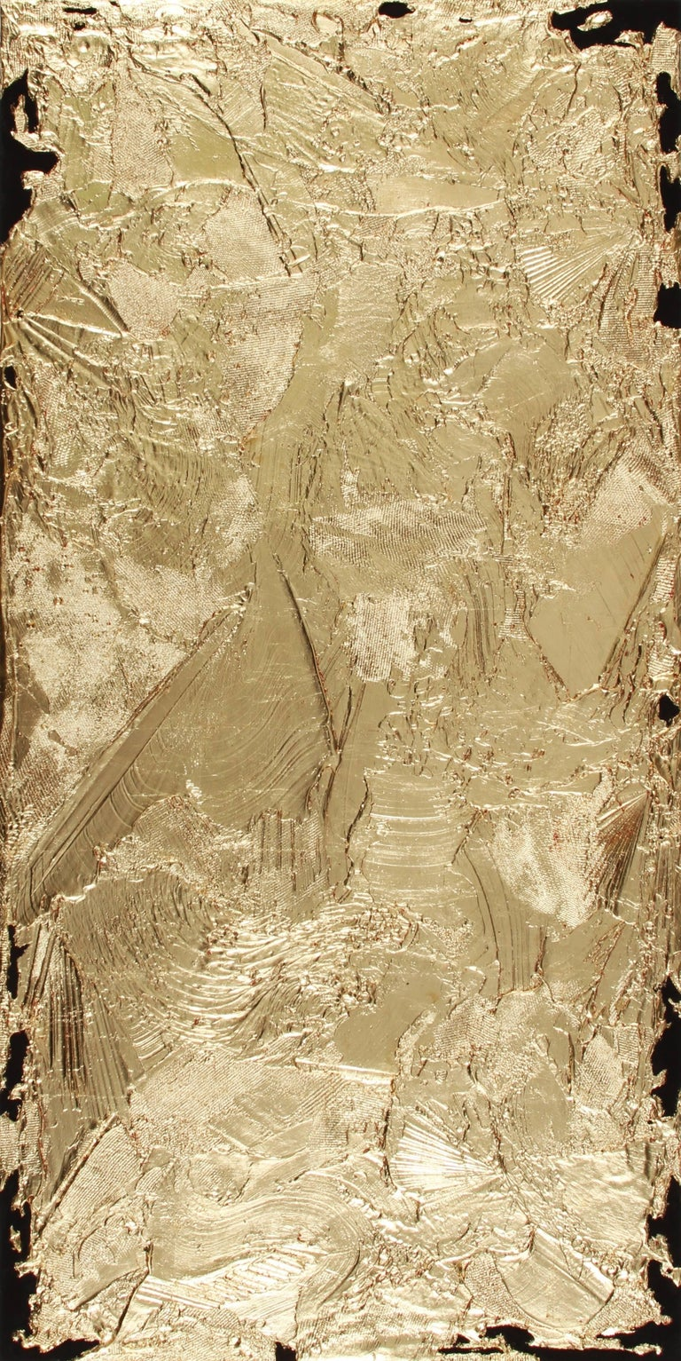 Jimi Gleason Abstract Painting - Scarletts Gold