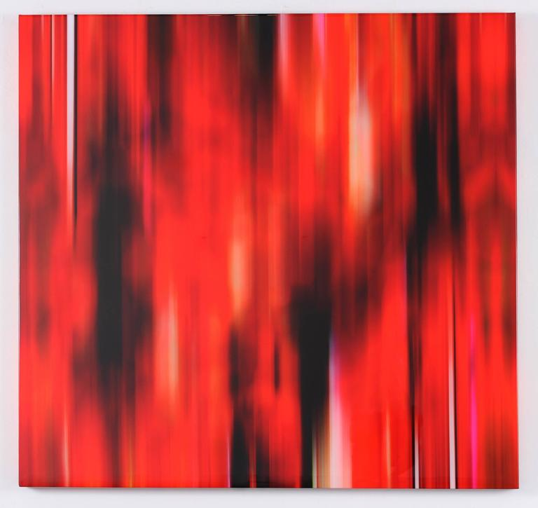 Temporarily Like a Concerto Only It's Red - Abstract Mixed Media Art by Michel Tabori