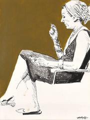 Matilda: Side View, Ochre Sketch