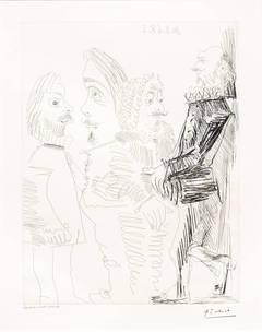 Pablo Picasso - Quatre Hommes en Costume Rembranesque