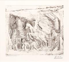 Rapt, avec Celestine, Ruffian, Fille et Seigneur avec son Valet