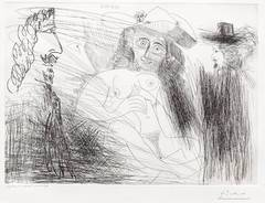 Peintre, Modele au Chapeau de Paille, et Gentilhomme