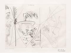 Pablo Picasso - Ecuyere de Cirque. Homme Rembanesque et Spectateur Mal Rase