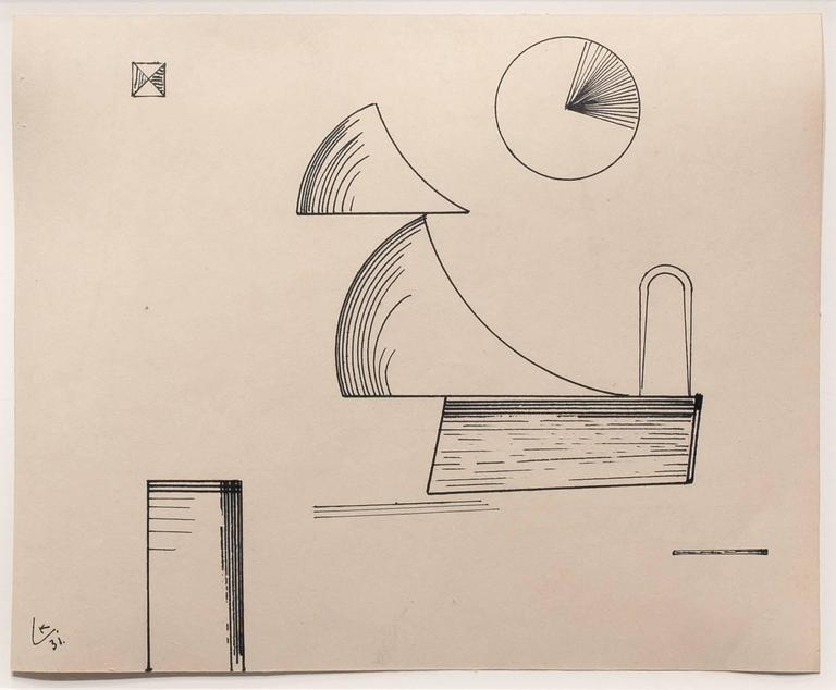 Wassily Kandinsky Abstract Drawing - Untitled
