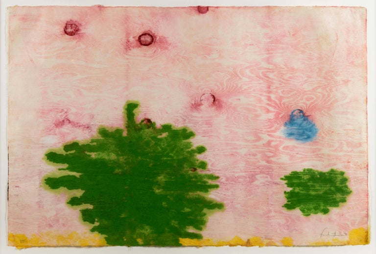 Helen Frankenthaler Abstract Print - Monotype XVIII