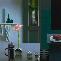 Interior with Coffee Pot and Poppies