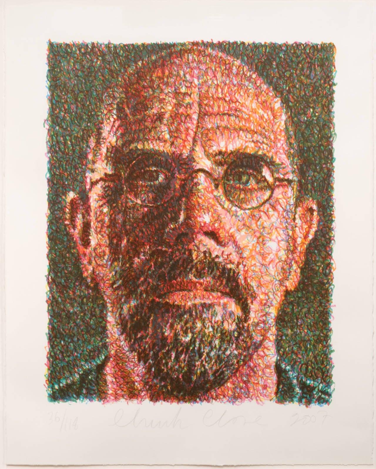 Chuck Close Self Portrait Print At 1stdibs