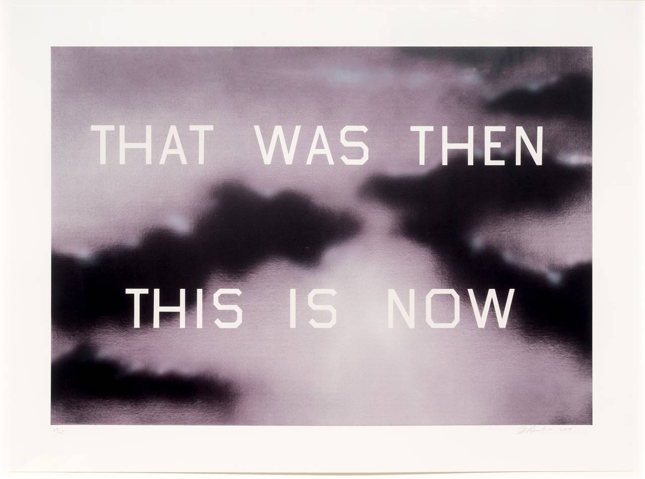 ed ruscha that was then this is now print at stdibs ed ruscha that was then this is now 2014 1