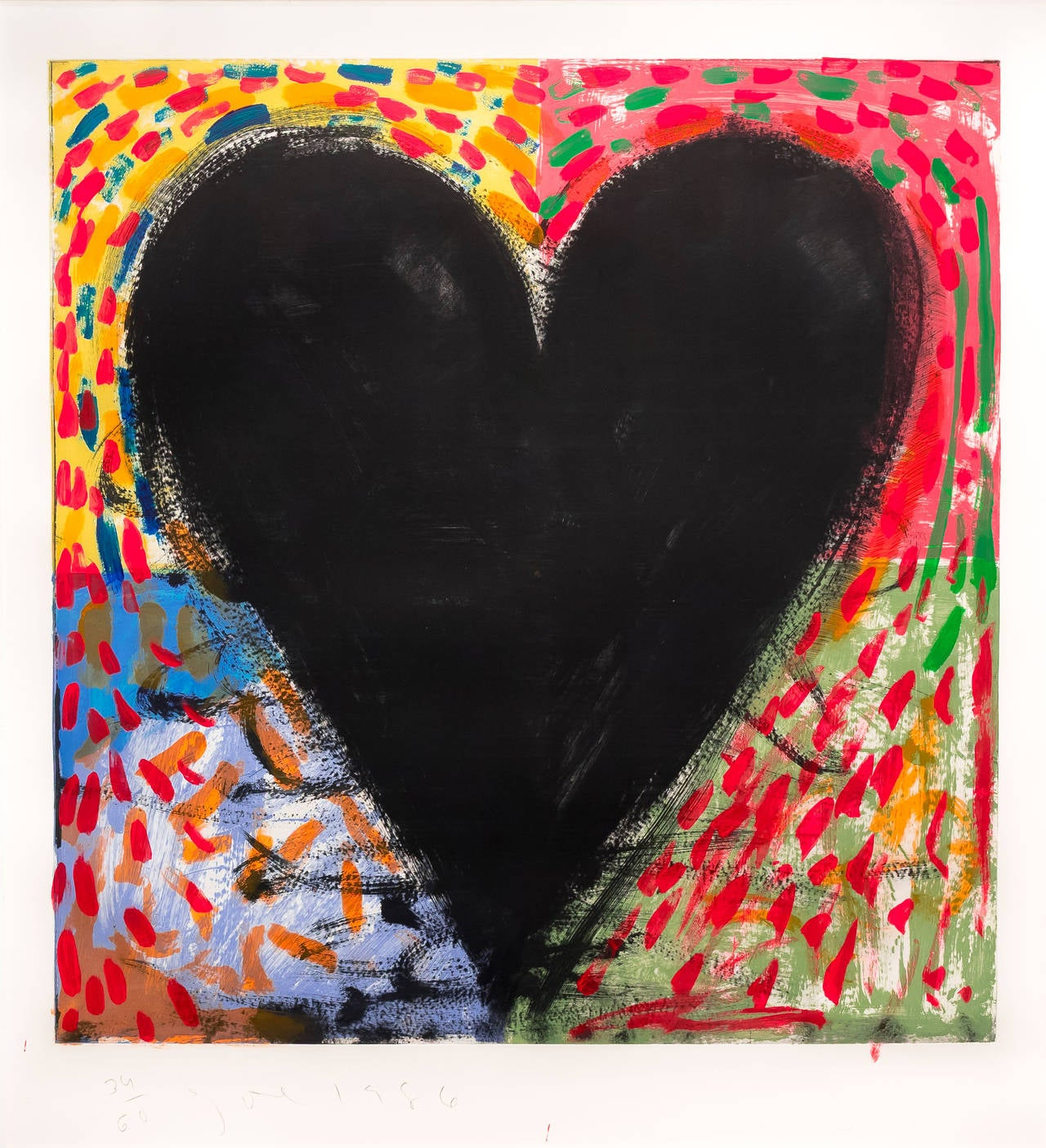 Jim Dine - Hand Painting on the Mandala, Print at 1stdibs