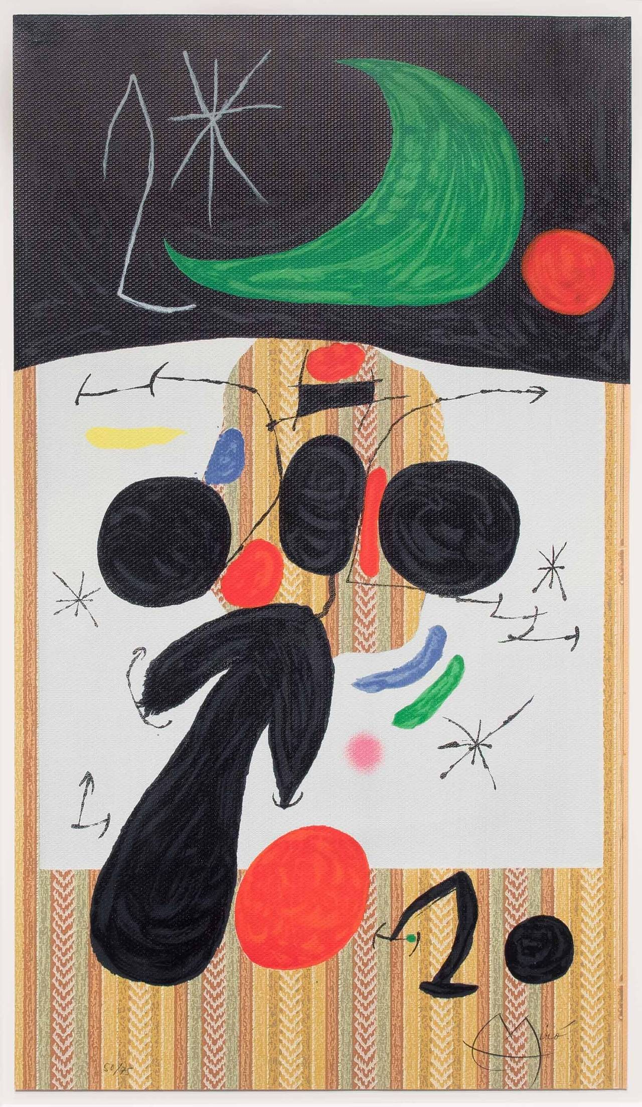 Joan mir interieur et nuit print at 1stdibs for Joan miro interieur hollandais