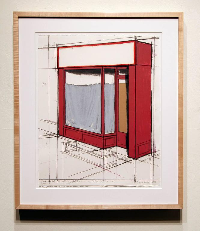 Pink Store Front, Project from Marginalia - Contemporary Print by Christo and Jeanne-Claude