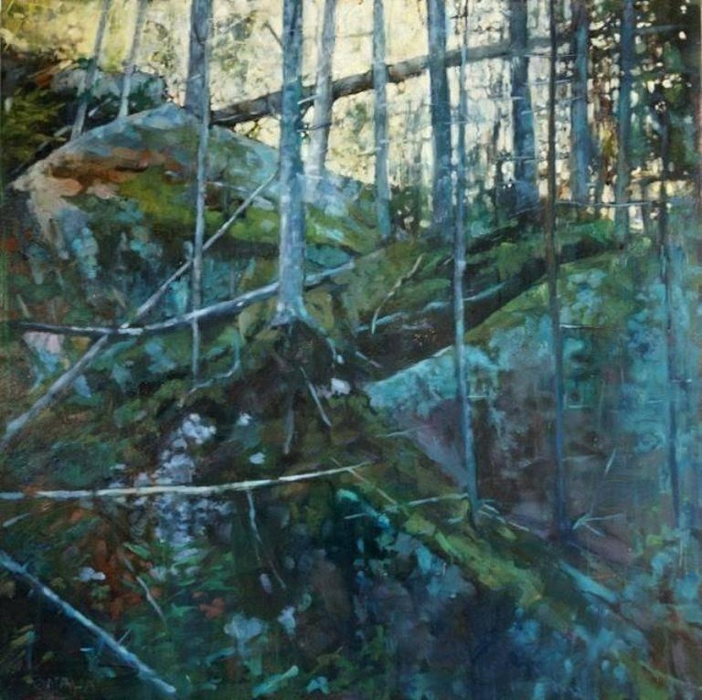 Carol O'Malia Landscape Painting - Into the Notch