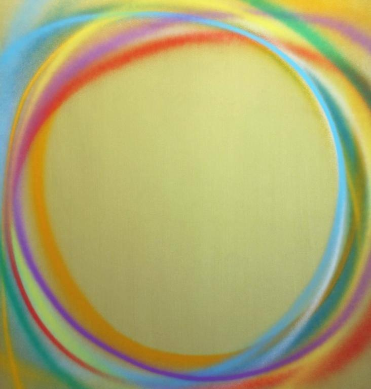 Dan Christensen Abstract Painting - Greenglo