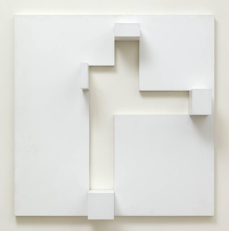 Peter Lowe Abstract Sculpture - White relief 2