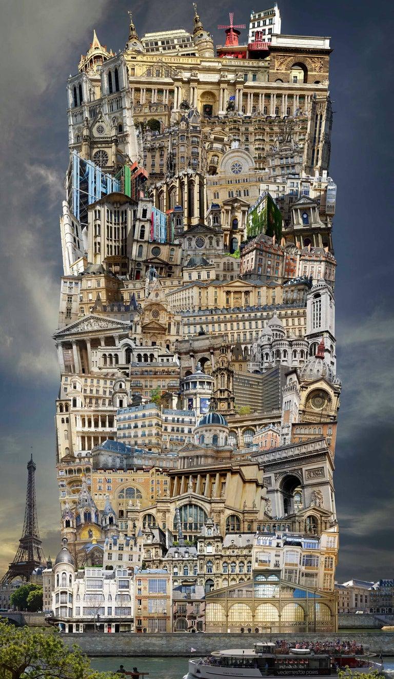 Jean-Francois Rauzier Landscape Photograph - Babel 34 Paris