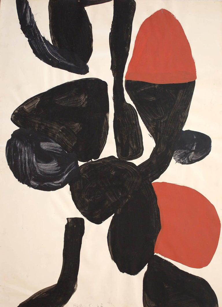 Trevor Bell Abstract Drawing - Nob