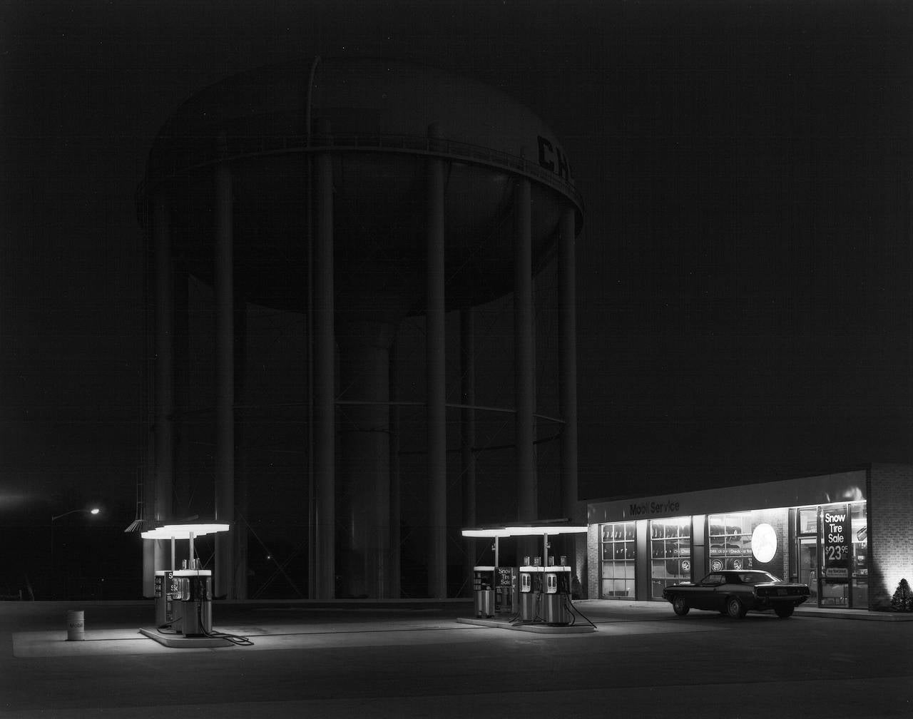 George Tice Petit 39 S Mobil Station Cherry Hill Nj Photograph For Sale At 1stdibs