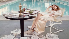 Faye Dunaway, The Beverly Hills Hilton, The Morning after her Network Oscar, LA