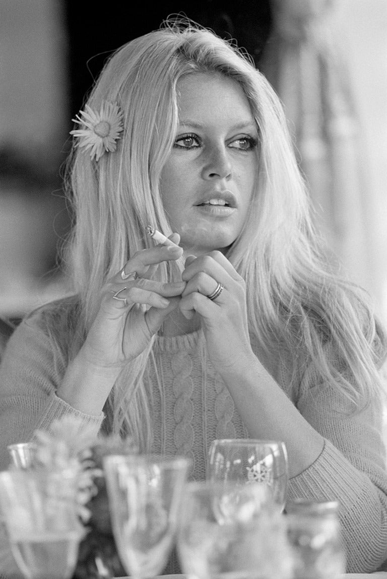 Terry O'Neill Black and White Photograph - Brigitte Bardot Deauville