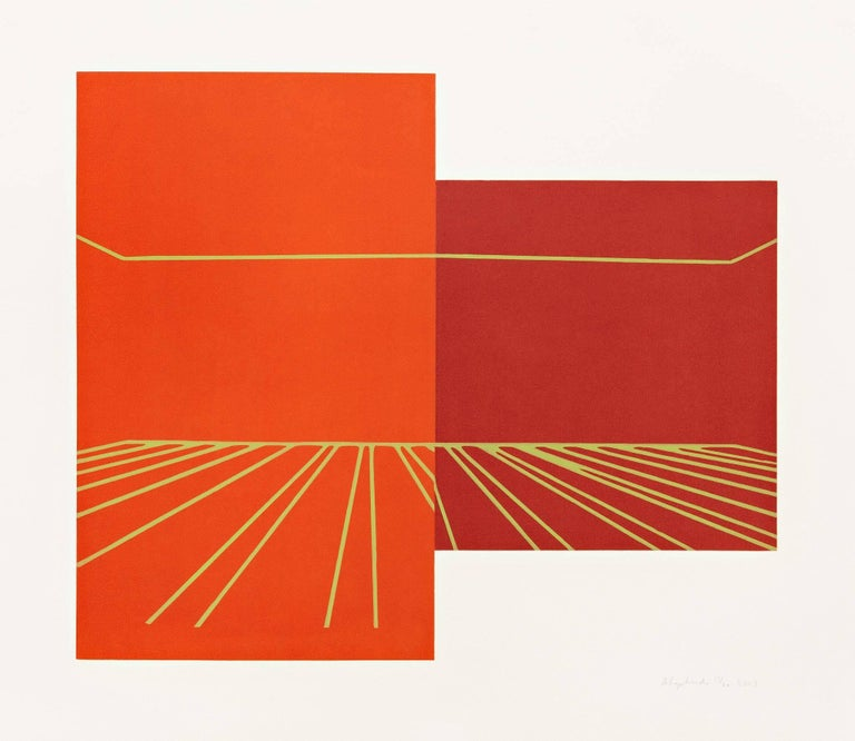 Kate Shepherd Abstract Print - Leaf Glow, Berry Stage