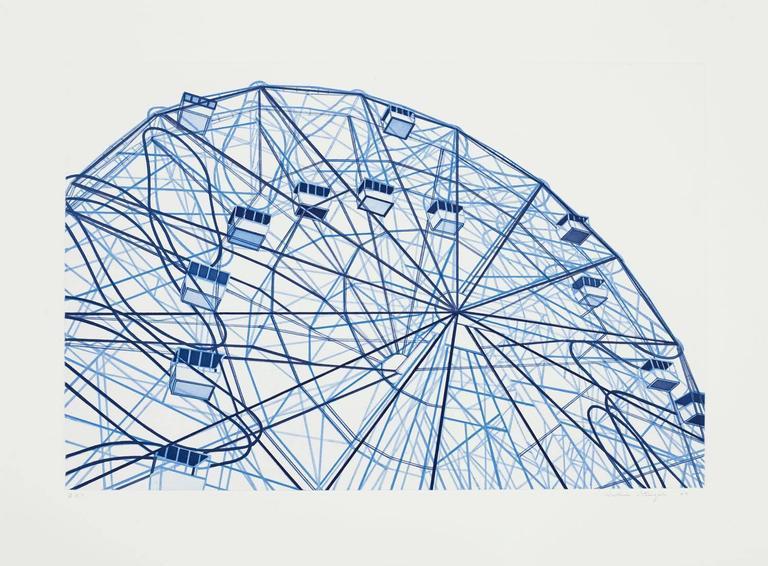William Steiger Landscape Print - Blue Wonderwheel