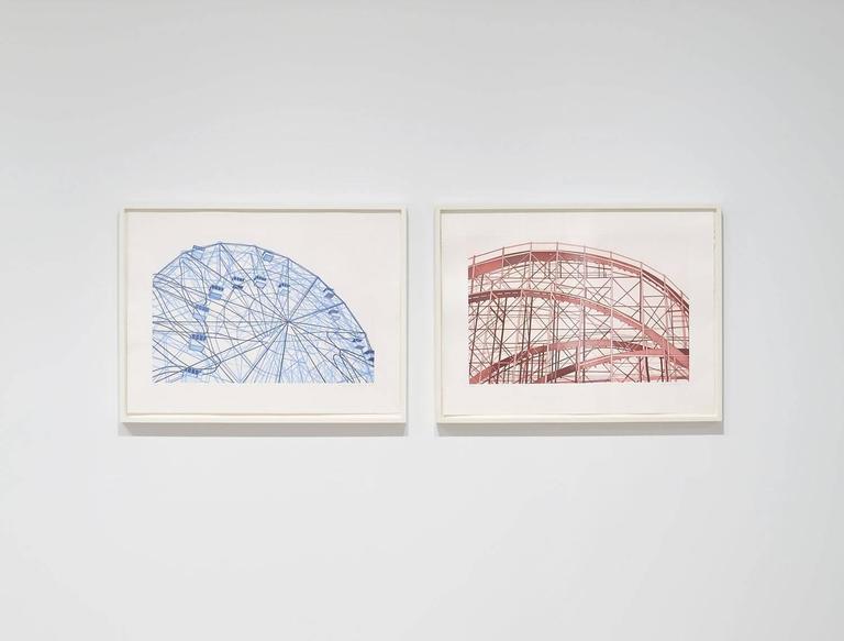 Blue Wonderwheel - Print by William Steiger