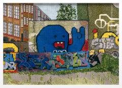 Jacquelyn Royal, Berlin 1, 2017, needlepoint, thread on canvas