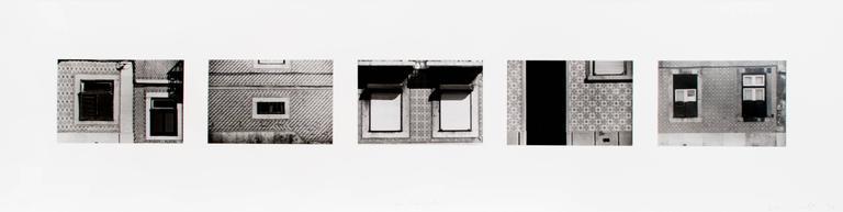 Sean Scully Black and White Photograph - Lisbon Facades
