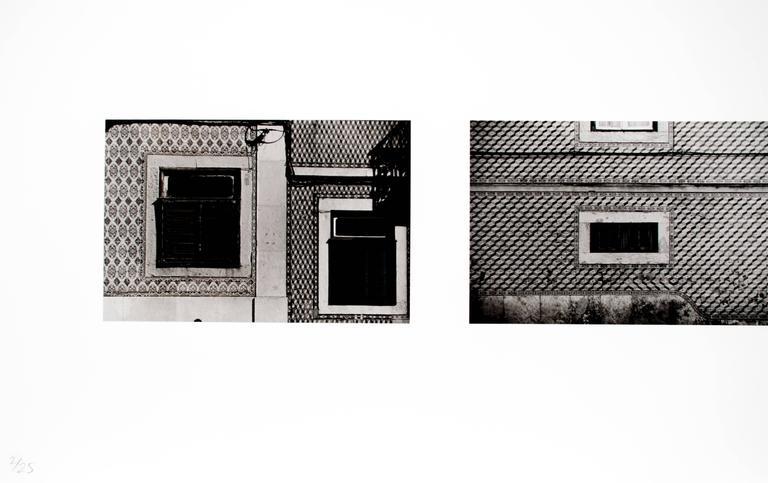 Lisbon Facades - Gray Black and White Photograph by Sean Scully