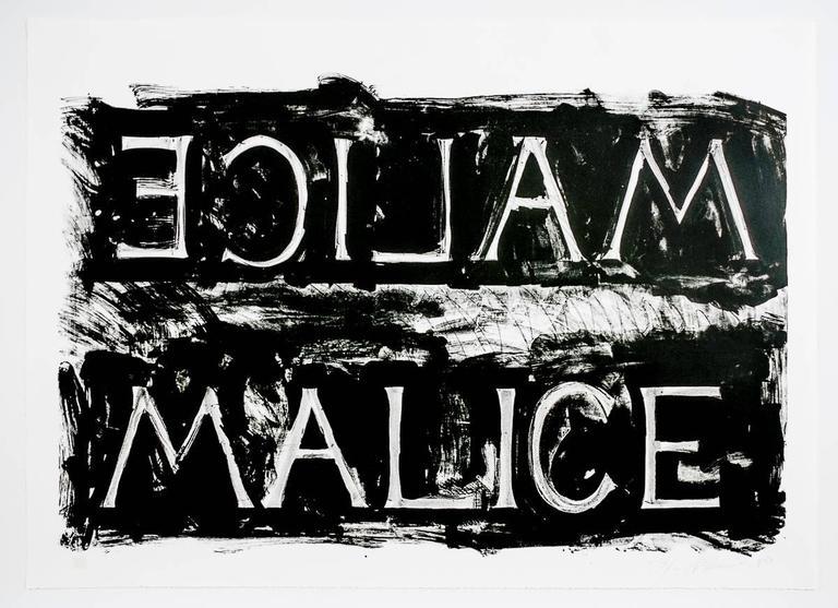 Bruce Nauman Print - Malice