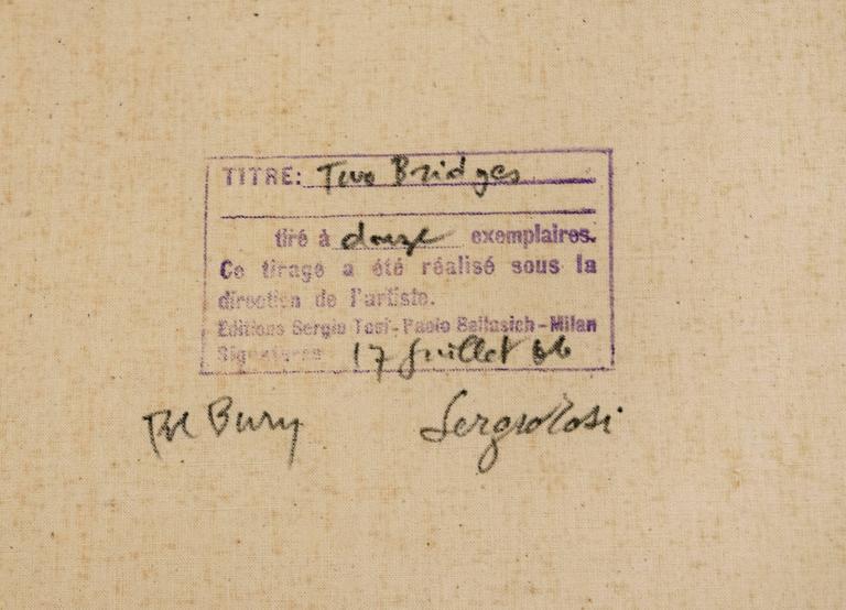 Two Bridges - Print by Pol Bury