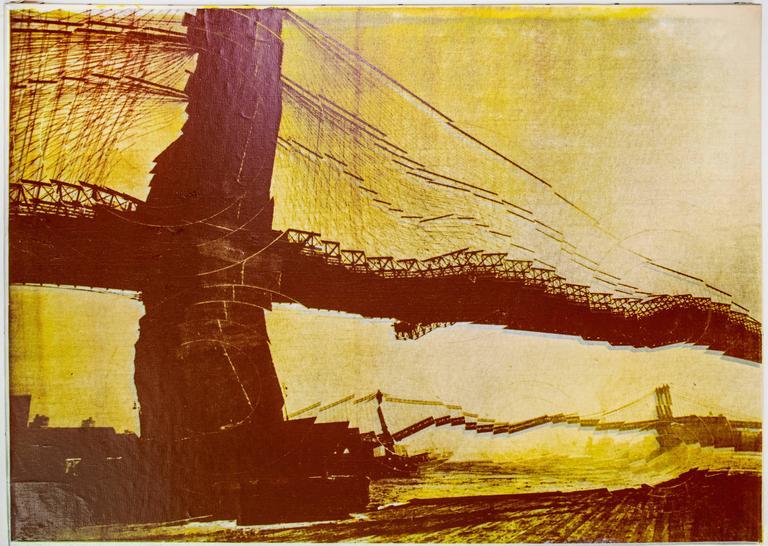 Pol Bury Landscape Print - Two Bridges