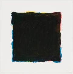 Red, Yellow, Blue & Black Irregular Squares Superimposed