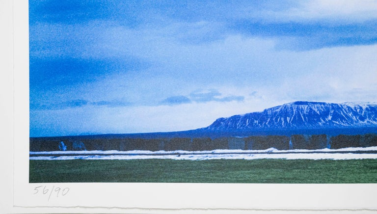 Overlap Series: Double Motorcyclists and Landscape (Icelandic) - Contemporary Print by John Baldessari