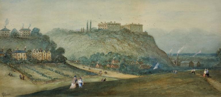 Prospect of Nottingham Castle from The Park
