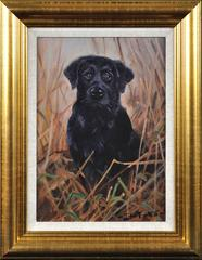 Black Labrador. By one of the greatest dog painters of his generation.