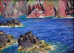 St Davids, Pembrokeshire, Wales. Celtic Sea. Irish Sea. Original oil painting.