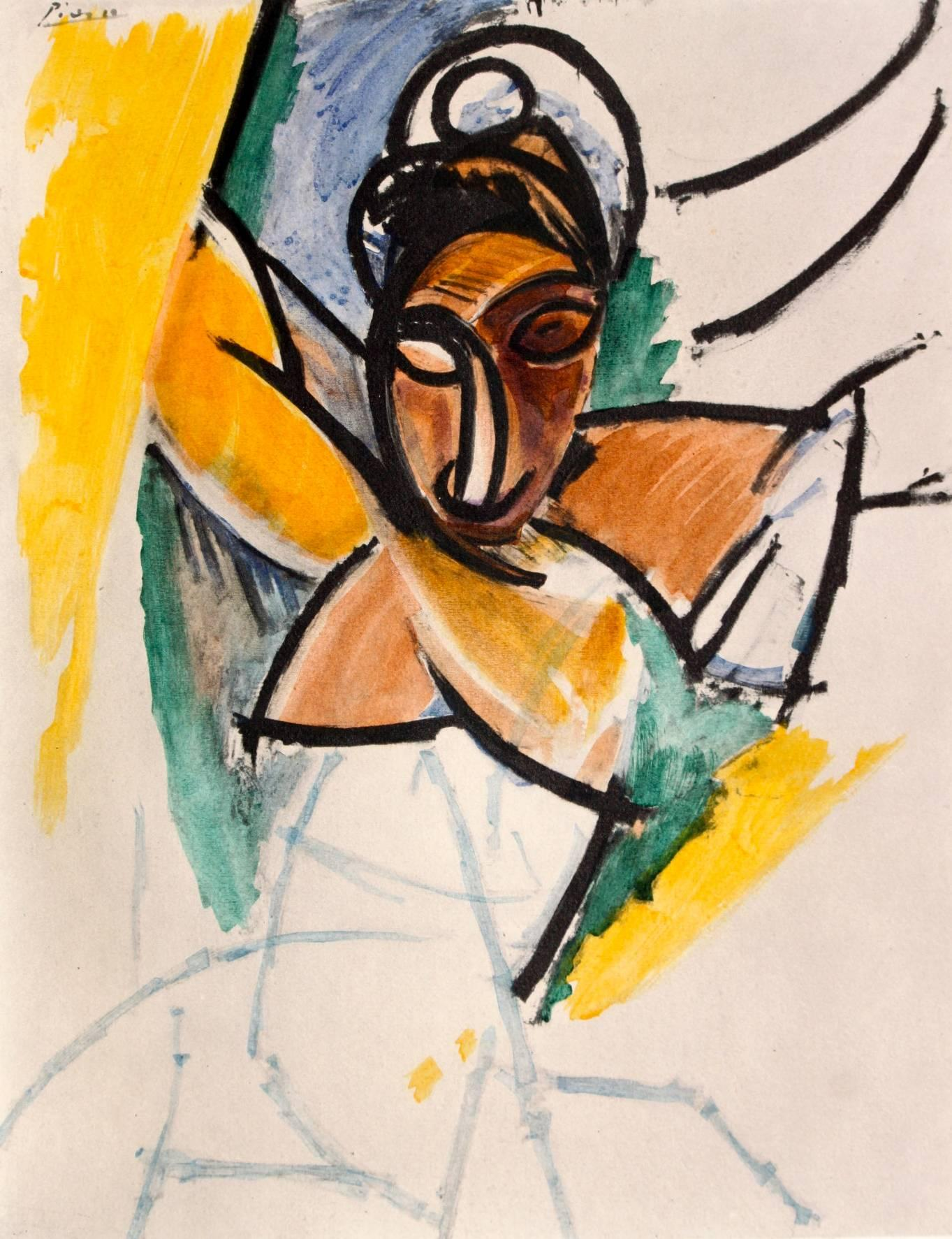 "1954 full Color Art Plate /""La Toilette/"" Picasso offset Lithograph"