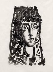 """Pablo Picasso - Femme a la Mantille- Carmen, from """"Le Carmen des Carmen"""""""