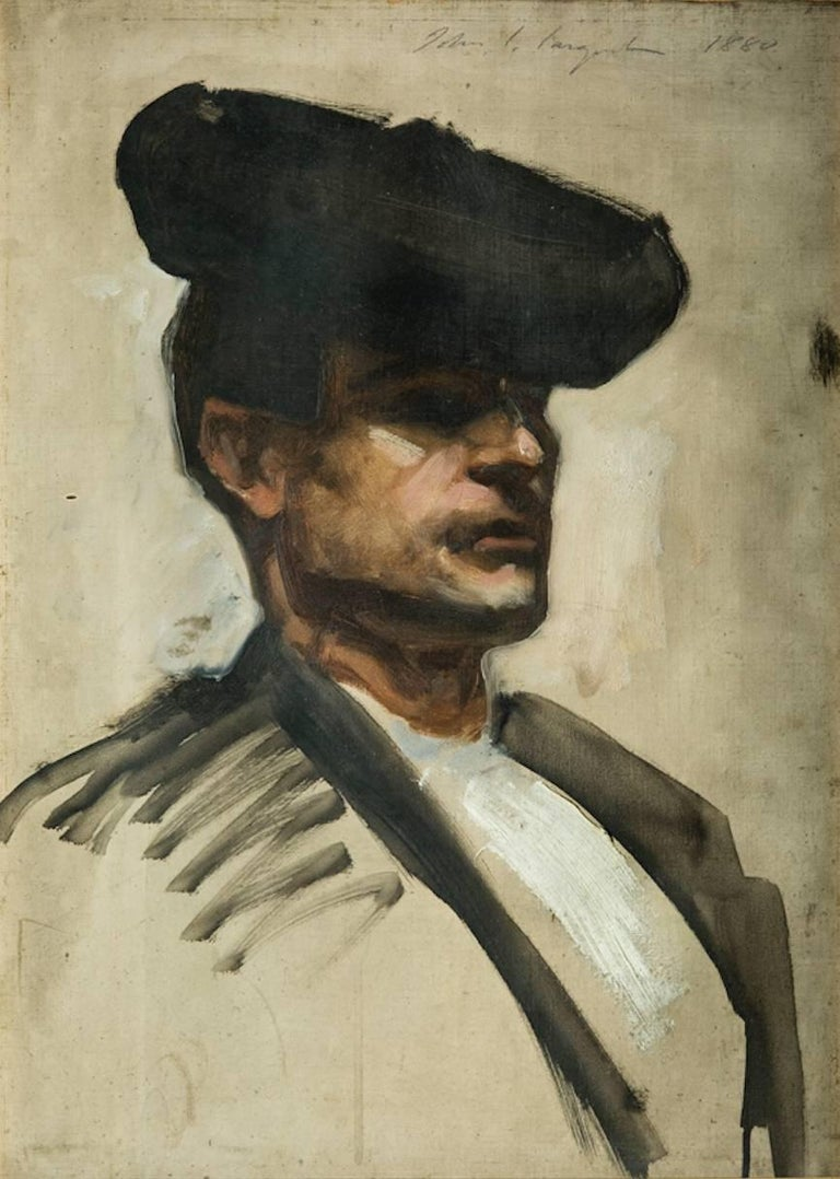 John Singer Sargent Figurative Painting - Head of a Spanish Musician
