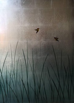 Hummingbirds Over Reeds VI