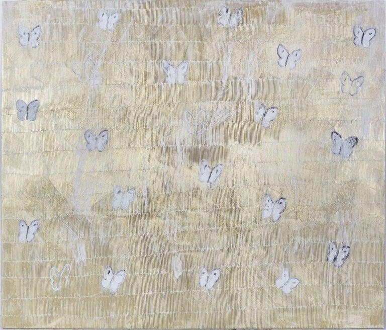 Hunt Slonem Animal Painting - White Annunciation