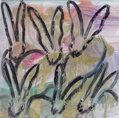Untitled Bunnies (CRK03529) by Hunt Slonem