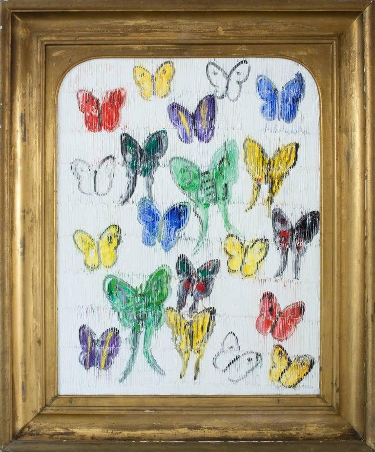Hunt Slonem Animal Painting - White Butterflies (CER00033)