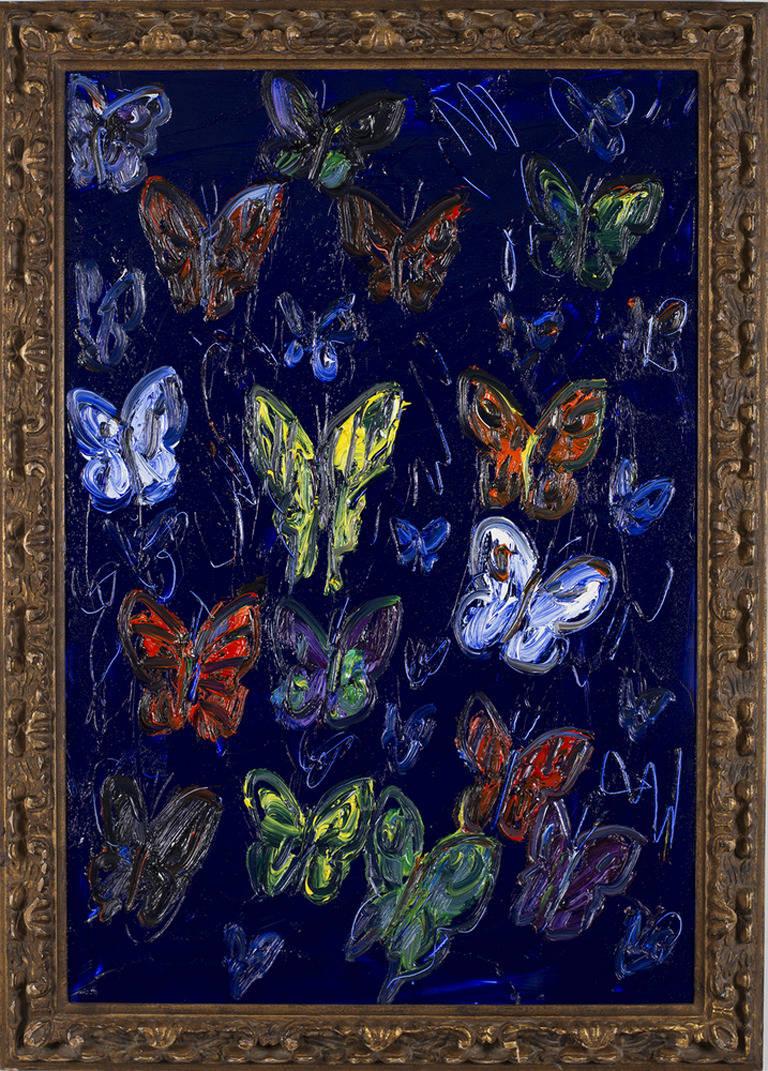 Hunt Slonem Animal Painting - Untitled Butterflies (CHL0159)